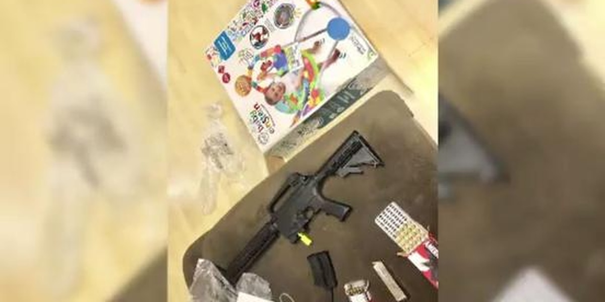 Loaded weapon found in baby shower gift