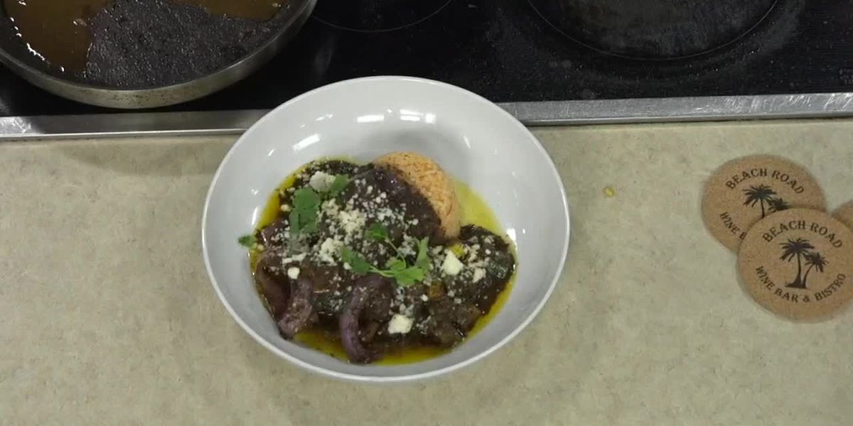 Short Rib With Mole Sauce From Beach Road Bistro