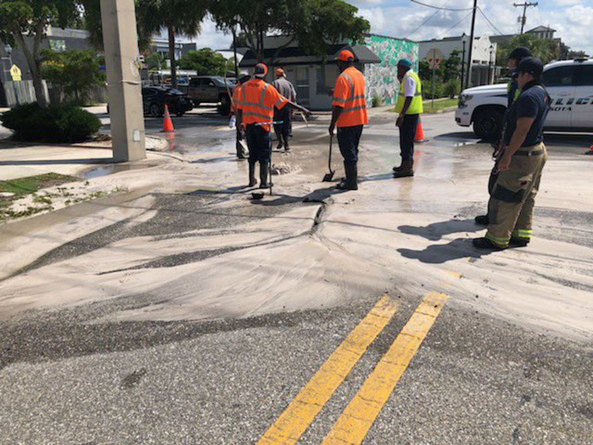 First Alert Traffic: Water main break at Central Ave. & Blvd. of the Arts