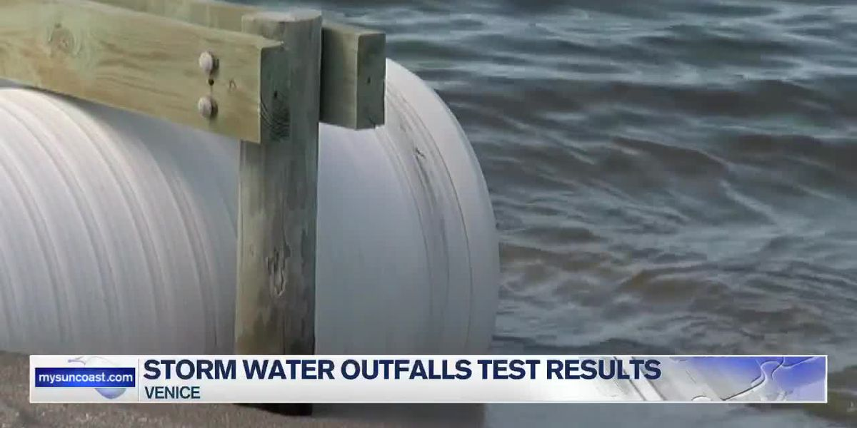 Venice's storm water outfalls test results