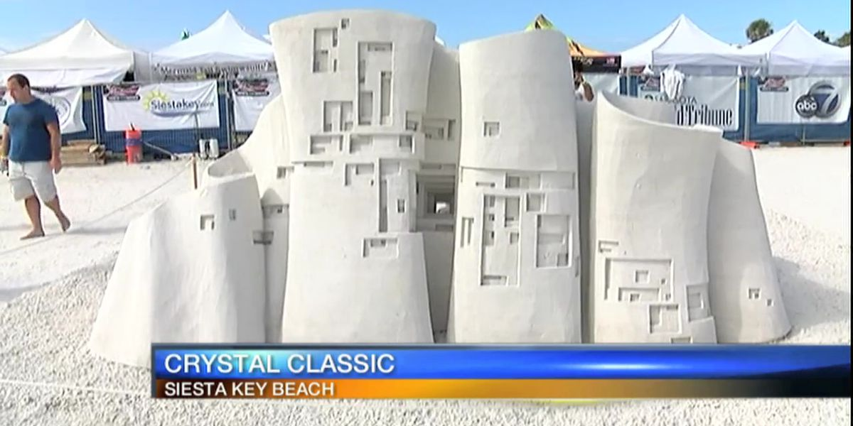 8 teams compete for world renown sand sculpture competition during Siesta Key Crystal Classic