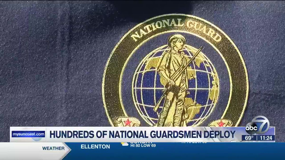 Hundreds of guardsmen deployed from the Palmetto Armory