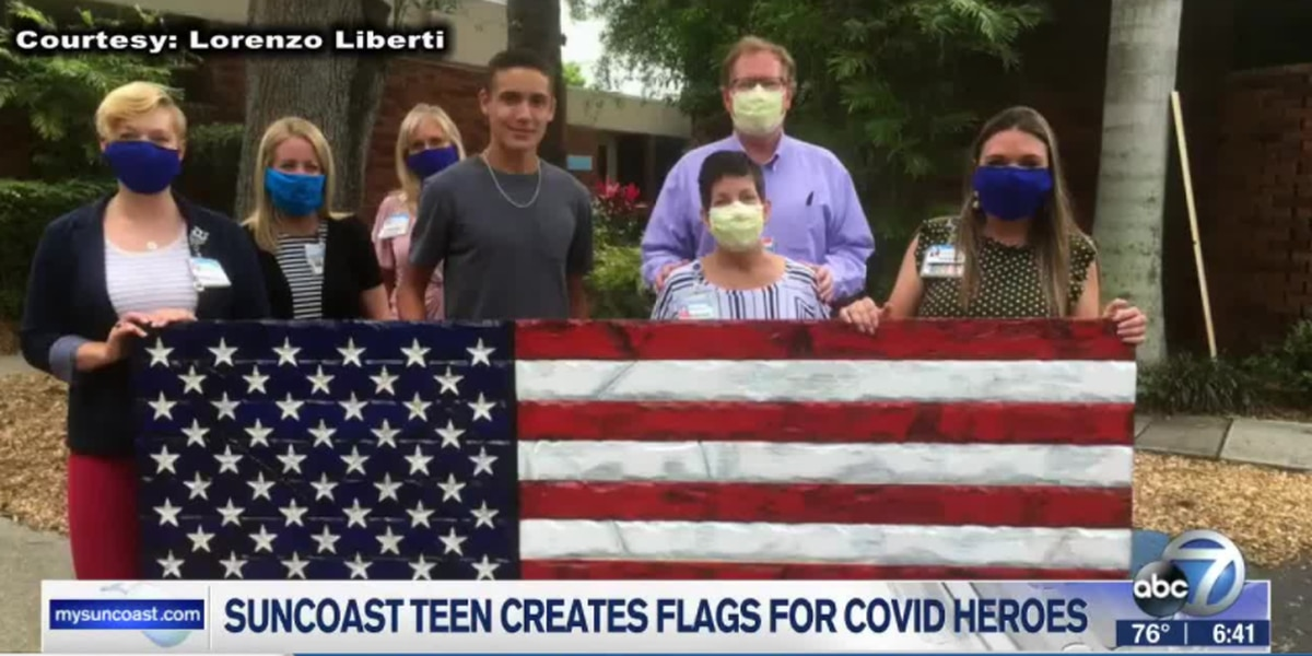Suncoast teen creates 'Heroic Flags' to honor health care frontline workers