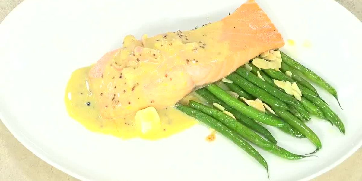 Chardonnay and Honey Poached Salmon