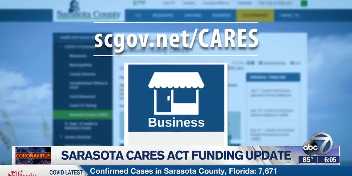 Sarasota County now accepting applications for CARES Act funding