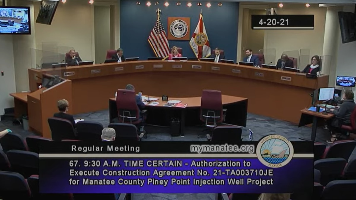 Manatee County OKs going forward with deep injection well at Piney Point