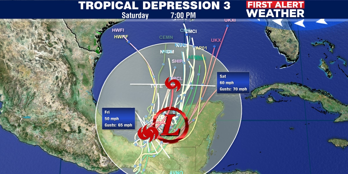 Tropical Depression #3 has formed in Gulf