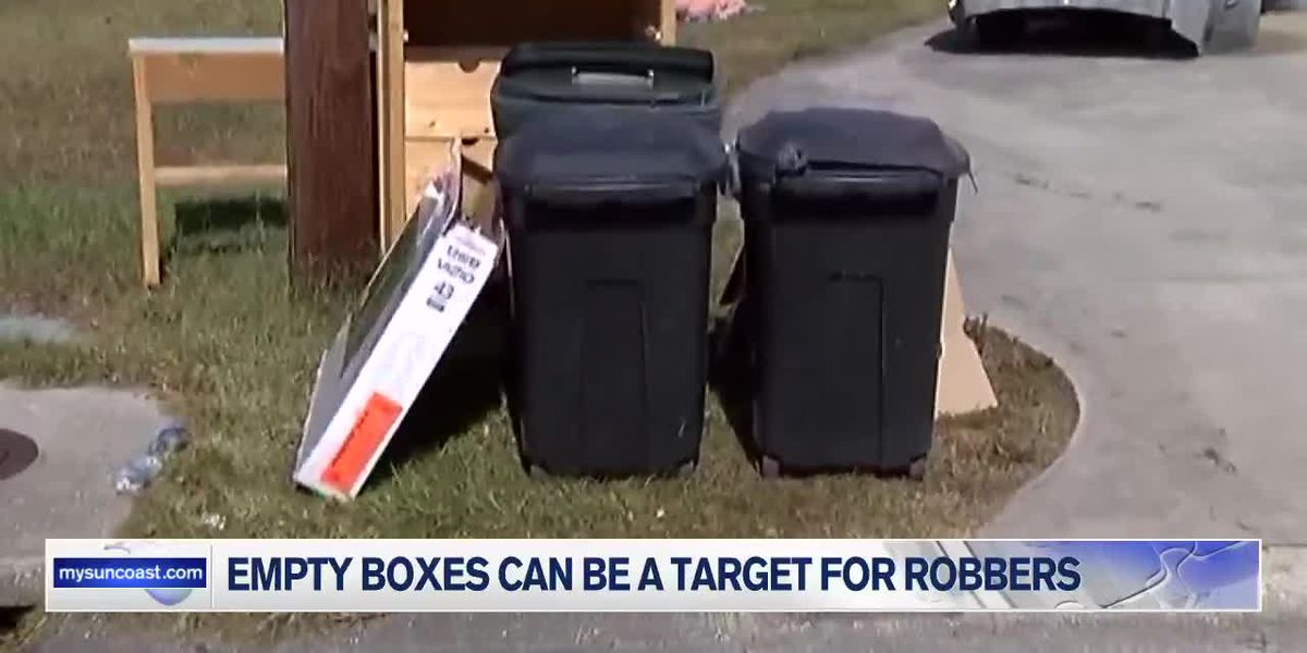 Law enforcement warn that empty boxes and empty homes can be inviting to thieves