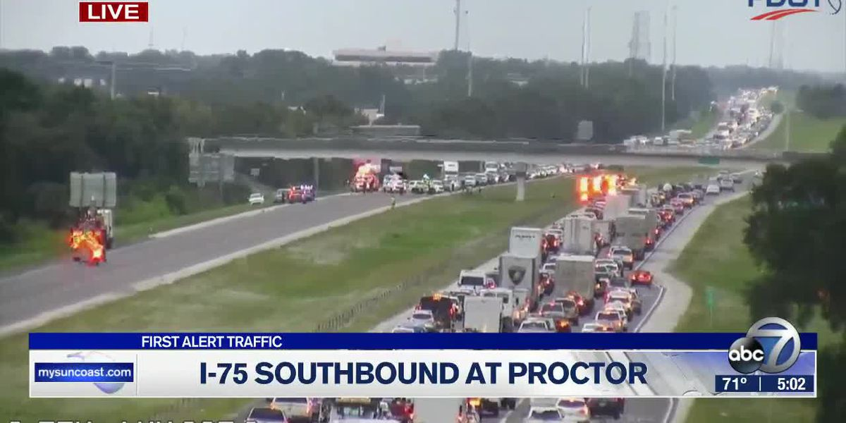 I-75 South re-opened after vehicle hits, damages Proctor Road overpass