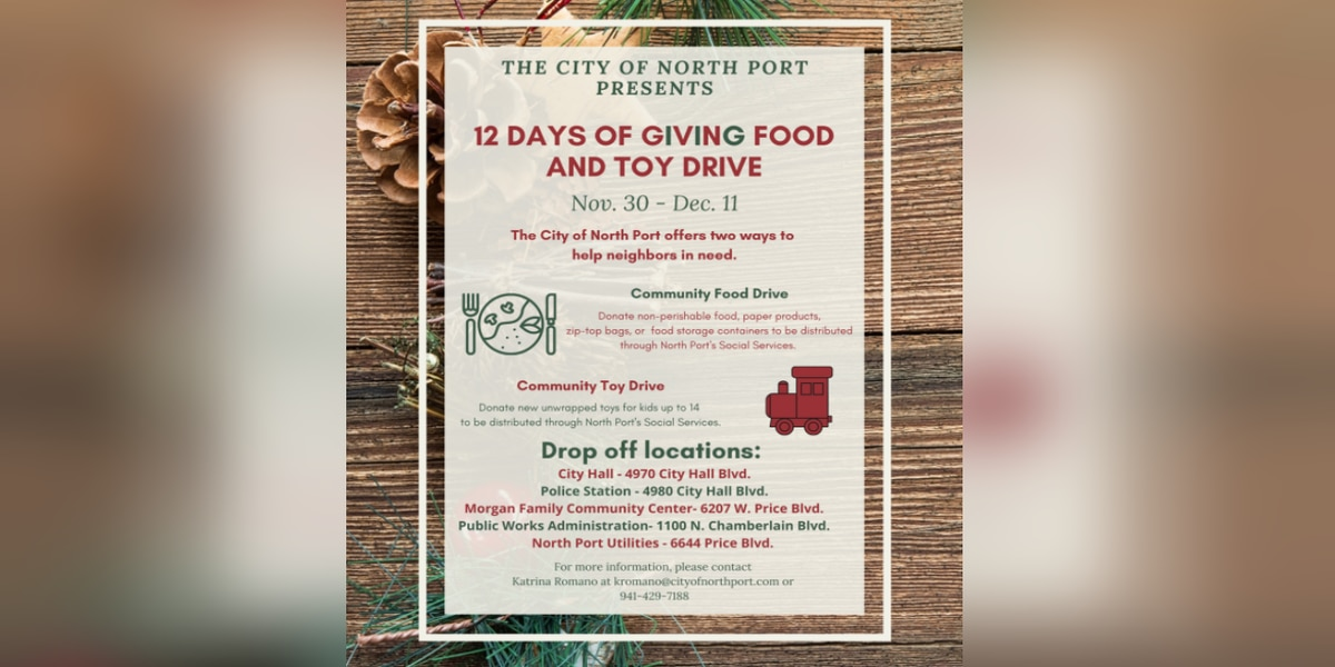 12 Days of Giving Food and Toy Drive begins in North Port