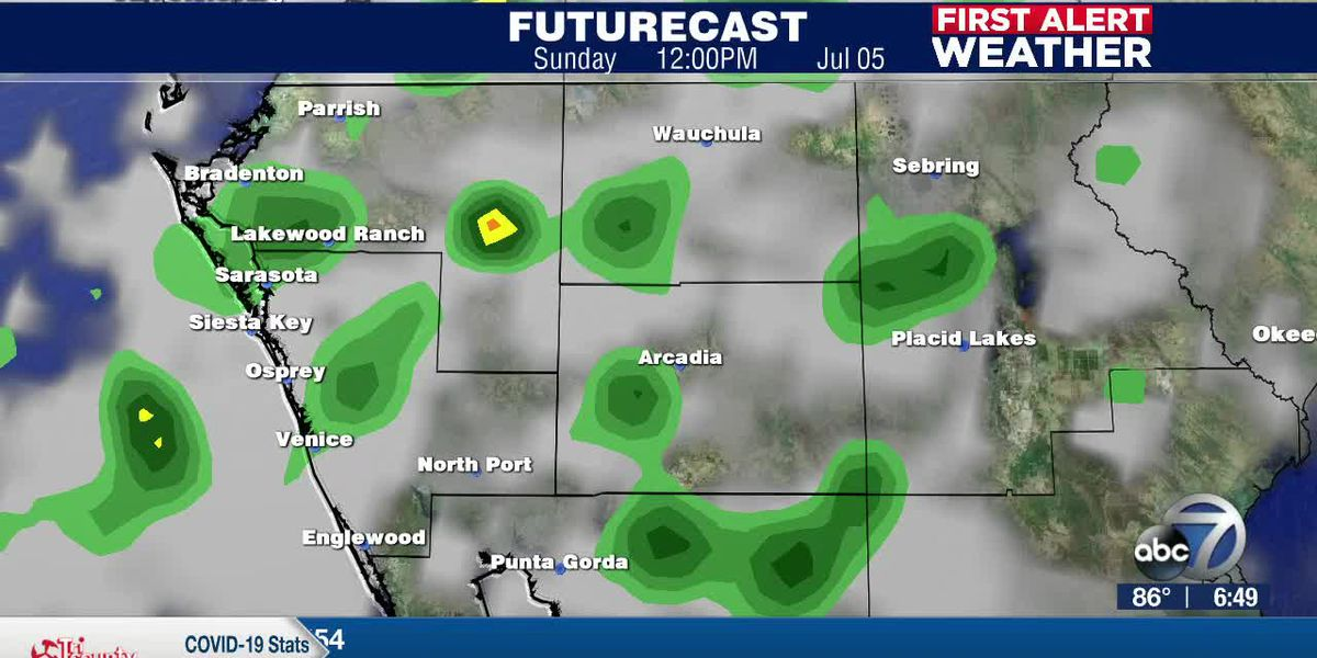 First Alert Weather: Saturday, July 4th, 2020 - Multiple rounds of showers and storms will continue to stream in from the Gulf of Mexico