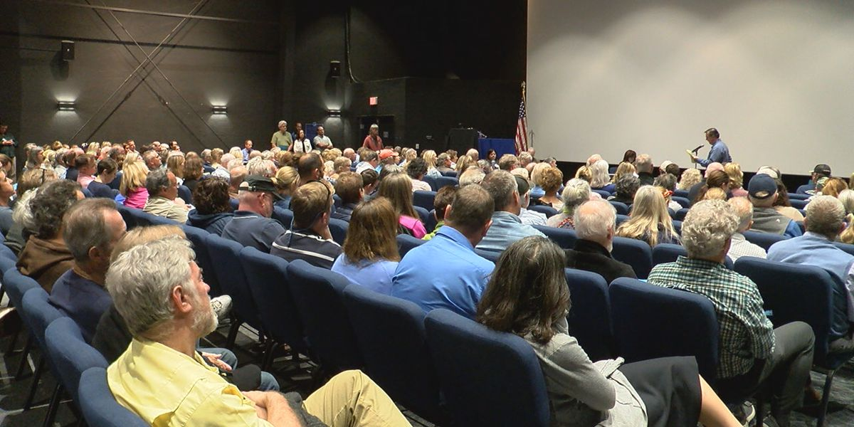 Fish farm protest and meeting discussing proposed plans off the coast of Sarasota