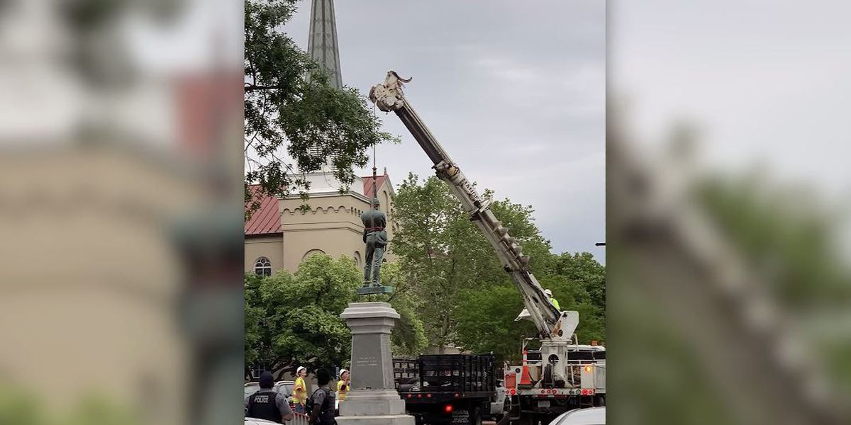 Confederate monuments coming down around South amid protests