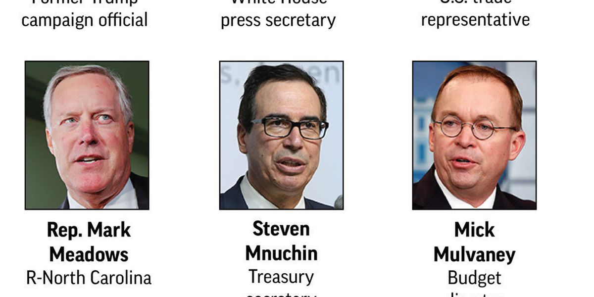 The Latest: Trump names Mulvaney acting chief of staff