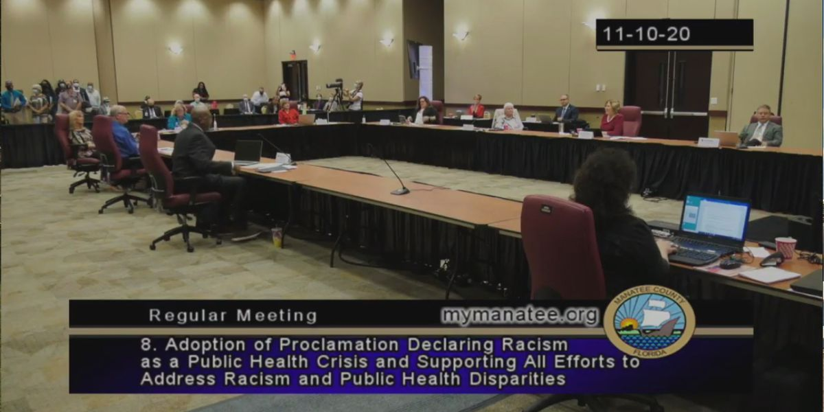 Manatee County Commissioners declare racism in the county a public health crisis