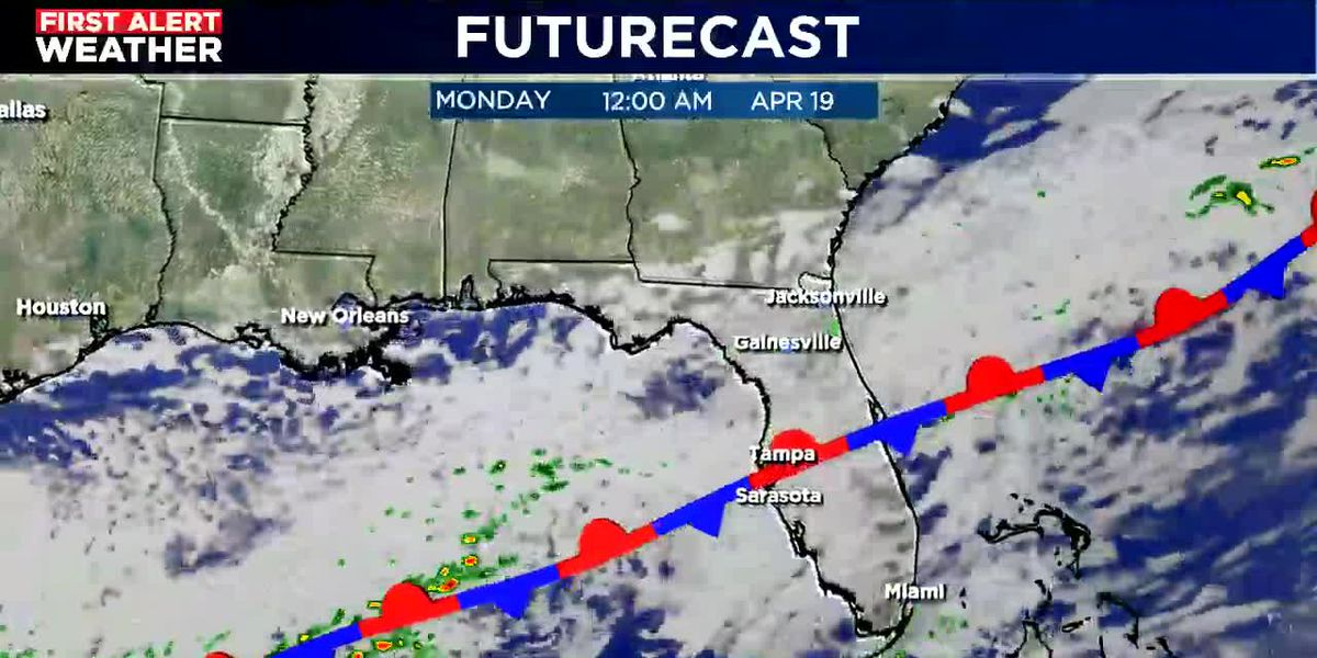 Dry Saturday, wet by Monday!