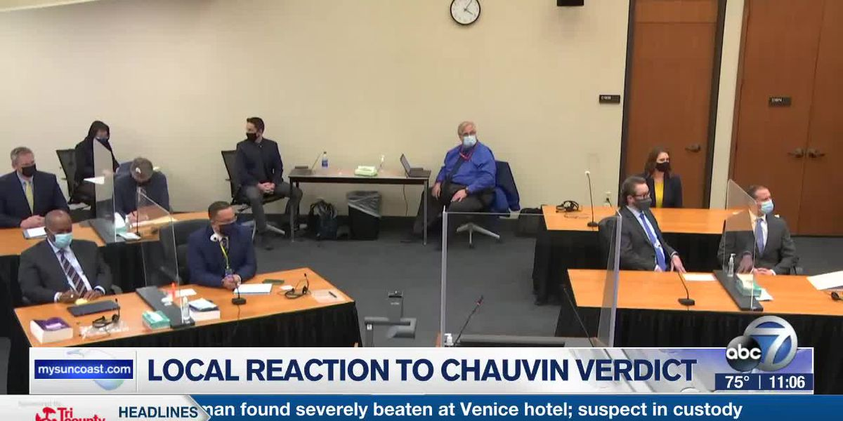 Local reaction to Chauvin verdict