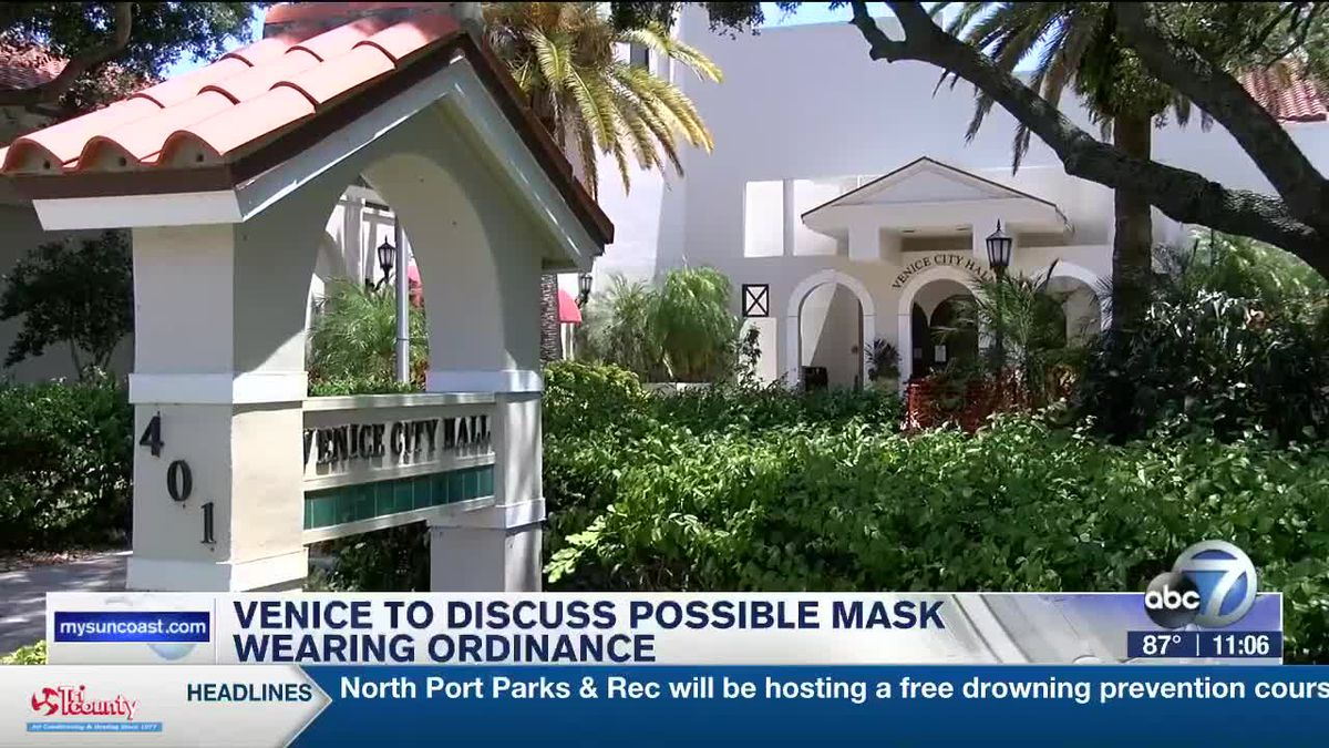 Venice to Discuss Possible Mask Wearing Ordinance