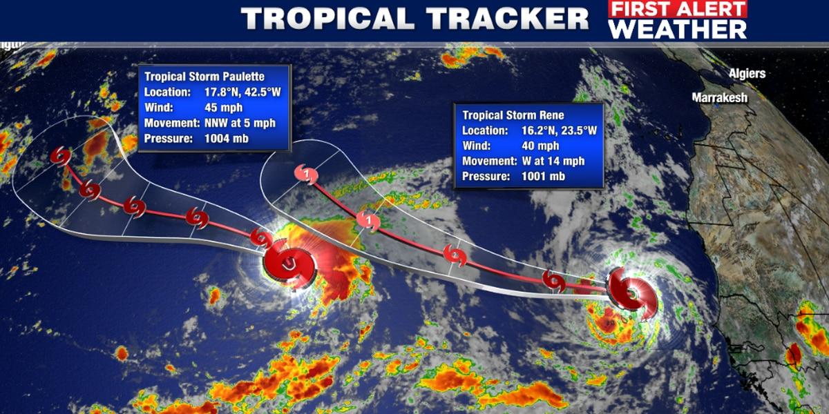 Tropical Storm Rene producing heavy rains, gusts in west Atlantic