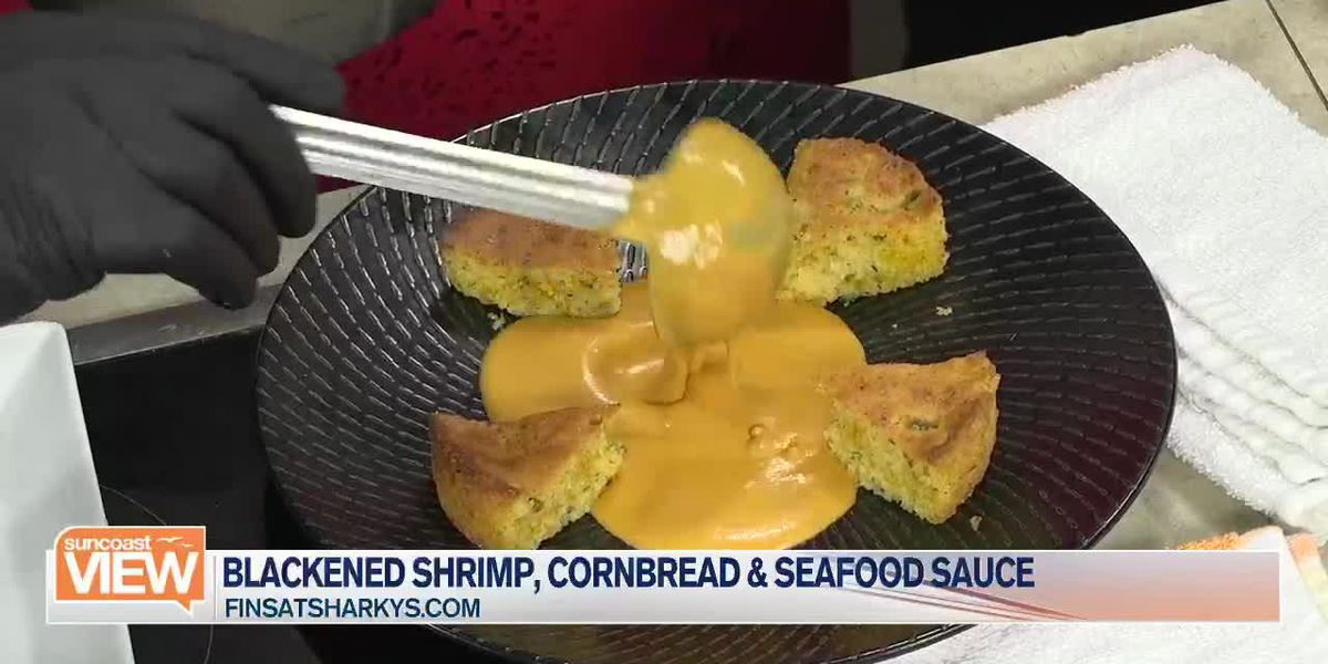 Fins at Sharky's Helps Us Make a Blackened Shrimp Recipe | Suncoast View