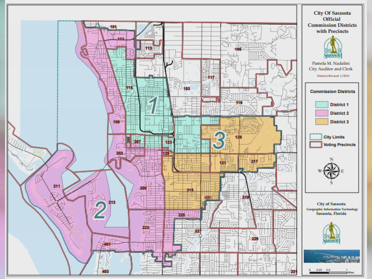 Sarasota City Commissioners discuss potential redistricting ahead of 2020 Census