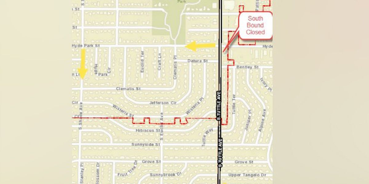 Road repairs on South Tuttle Avenue may close lanes overnight