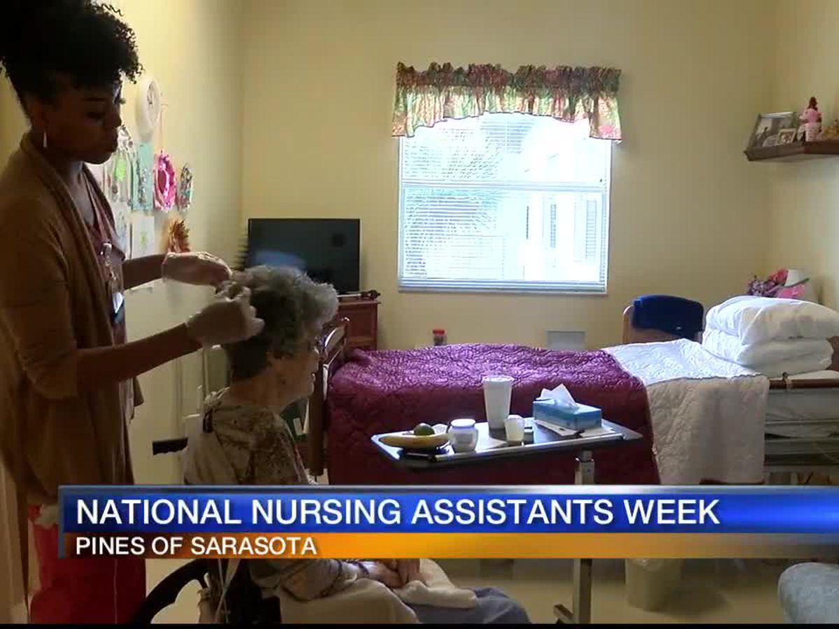 Pines of Sarasota celebrating National Nursing Assistants Week