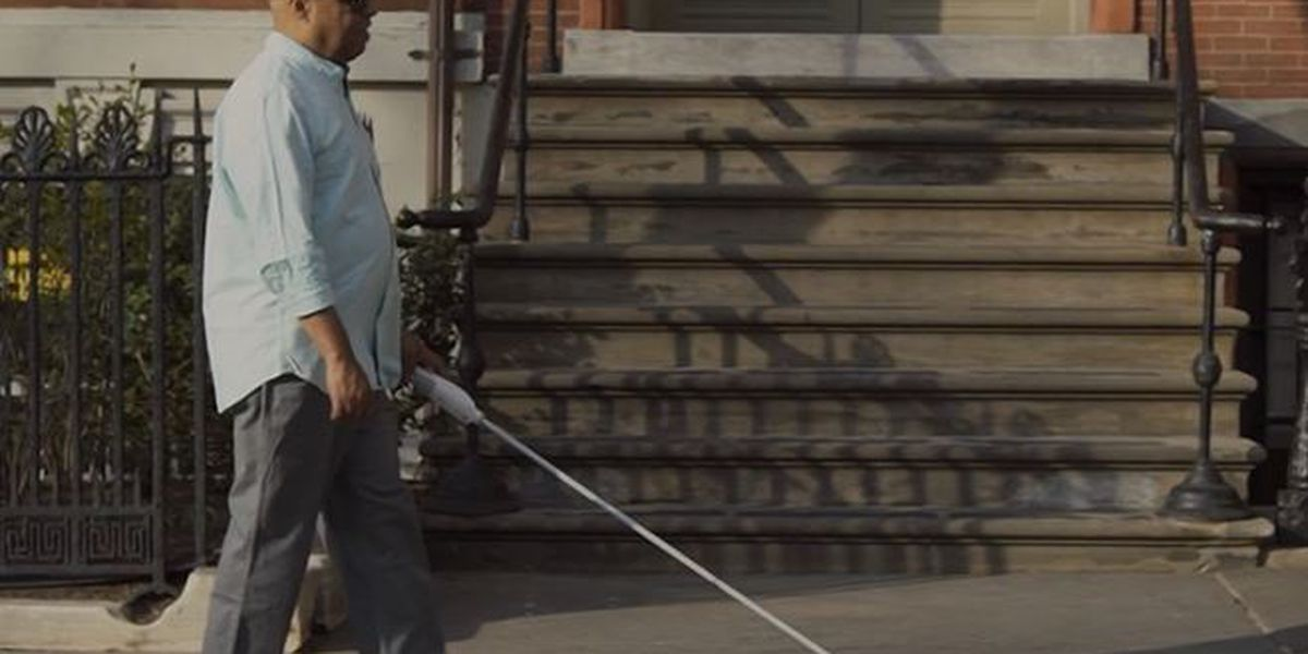 New 'smart cane' helps visually impaired people navigate above chest obstacles