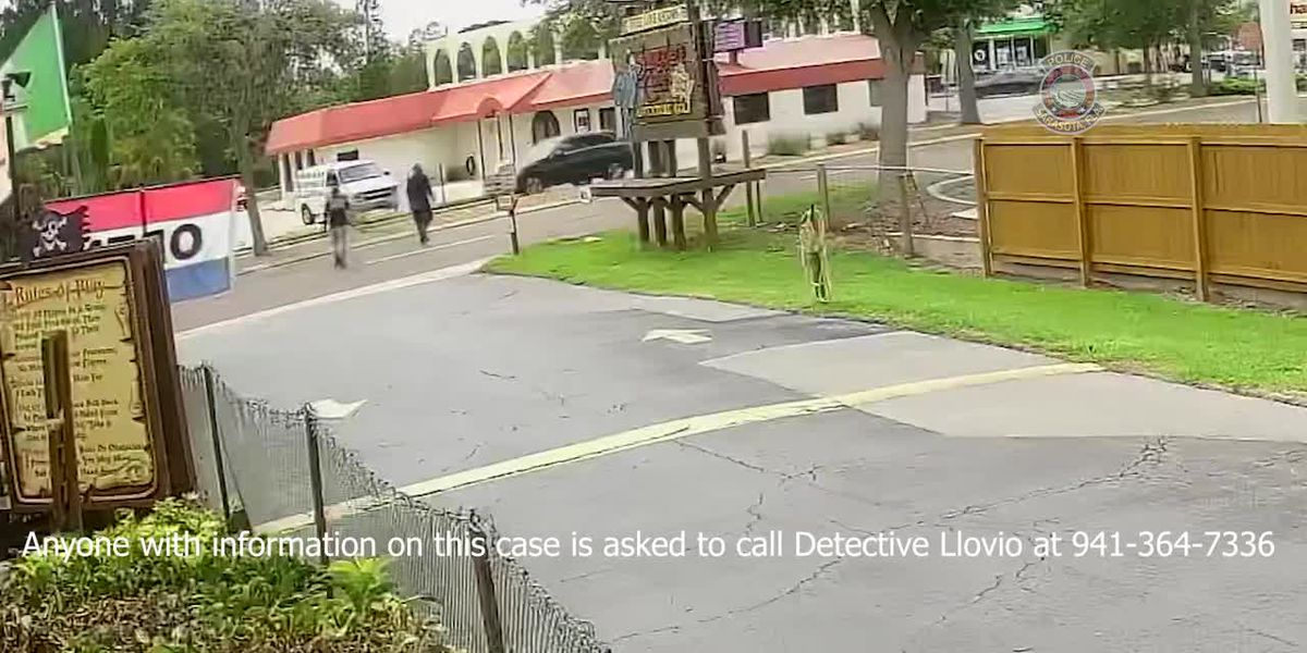 VIDEO: Sarasota Police searching for two people of interest in pharmaceutical delivery truck theft