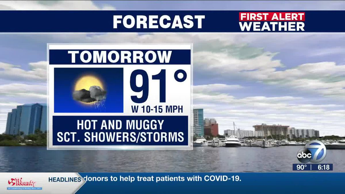 First Alert Weather: Friday, July 10, 2020 - Scattered showers and thunderstorms this weekend and the summertime heat continues