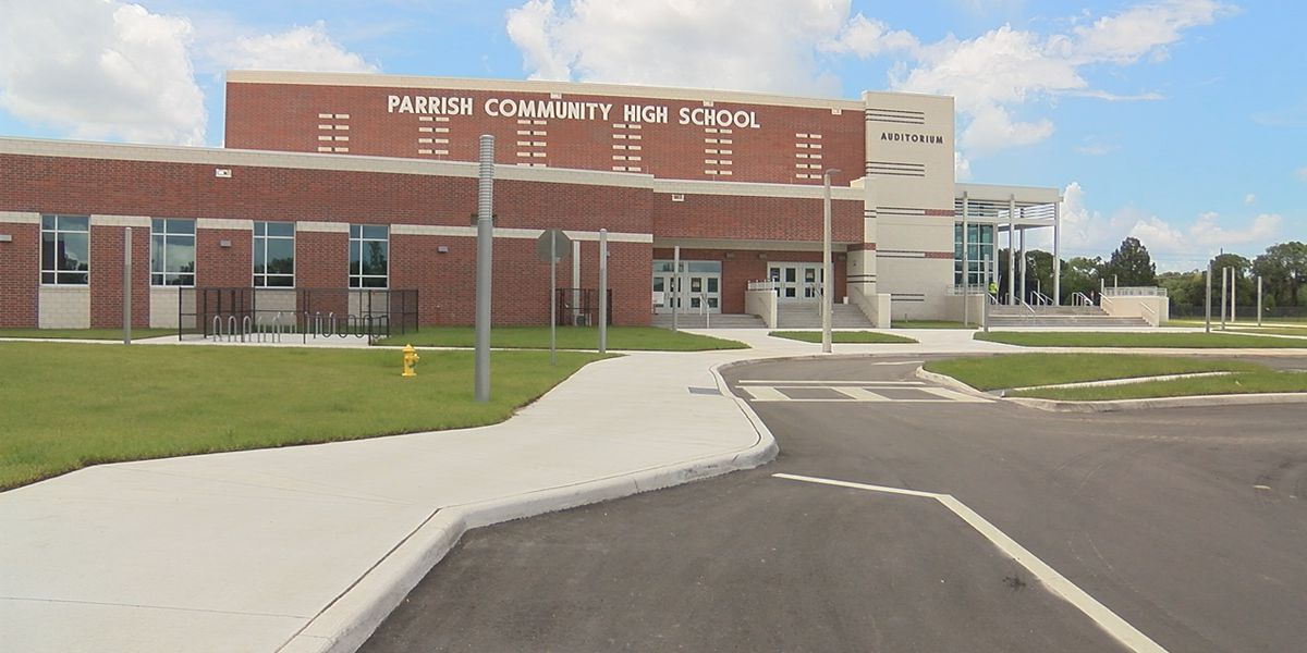 A first look inside the new Parrish Community High School before classes begin Monday