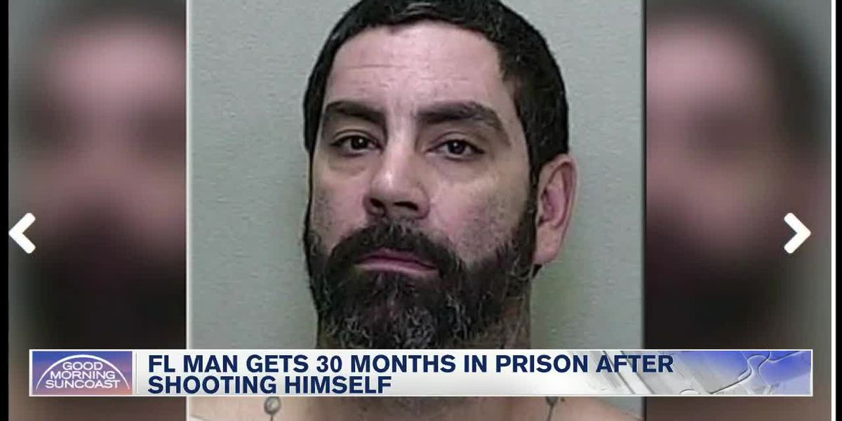 Florida man shoots self: Gets 30 months in prison
