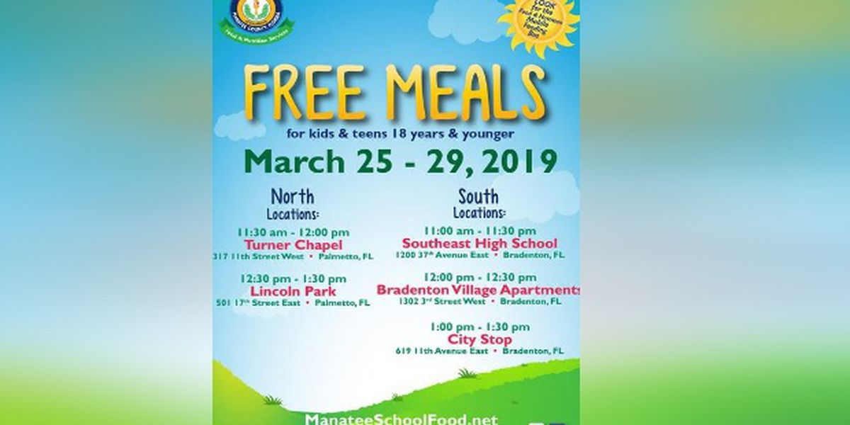 Spring Break Free Meals in Manatee County