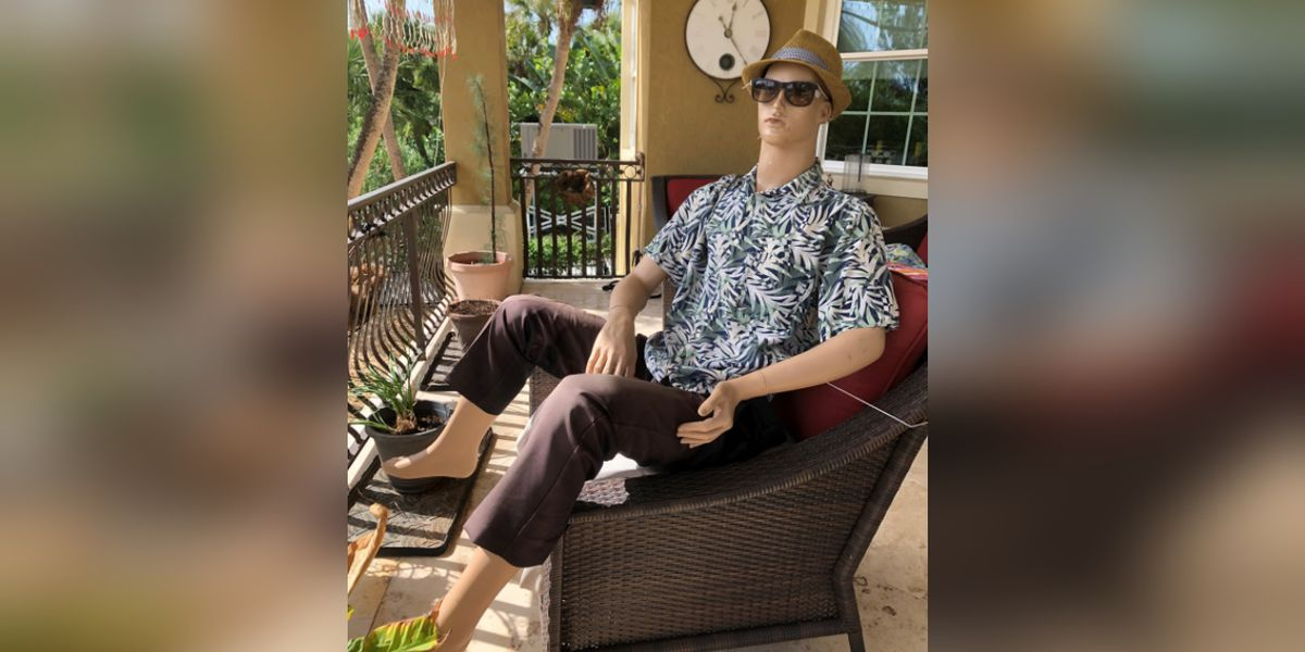 Holmes Beach, Fla. resident says that stolen mannequin wearing late husband's jacket has been found!