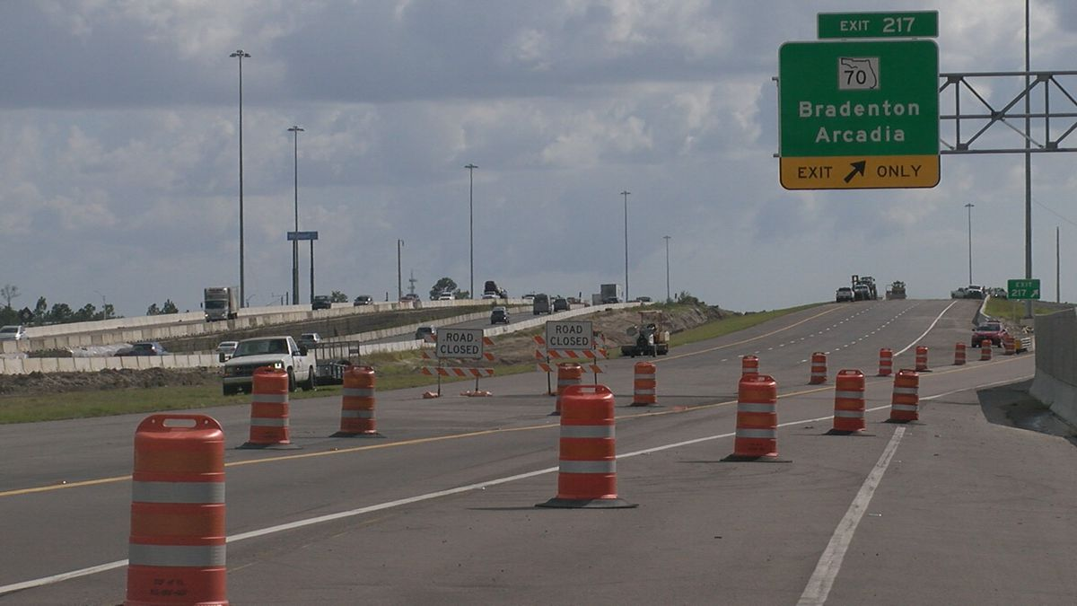 New I-75 bridge over State Road 70 in Manatee County opening Thursday night