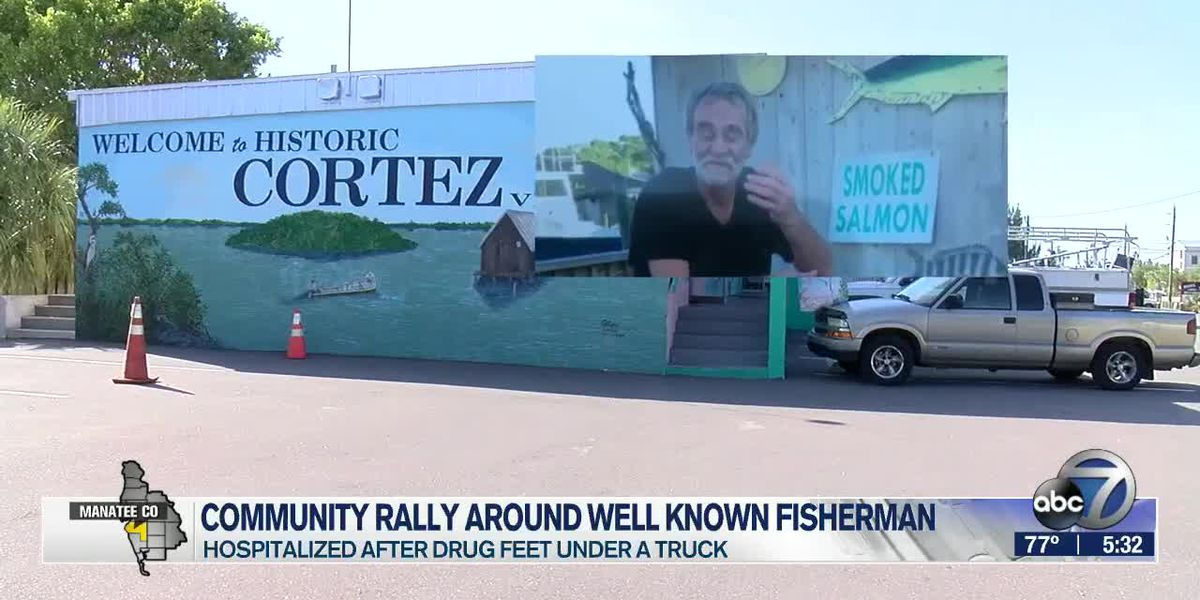Bradenton community rallying around fisherman who police say was intentionally hit by car; driver charged with attempted murder