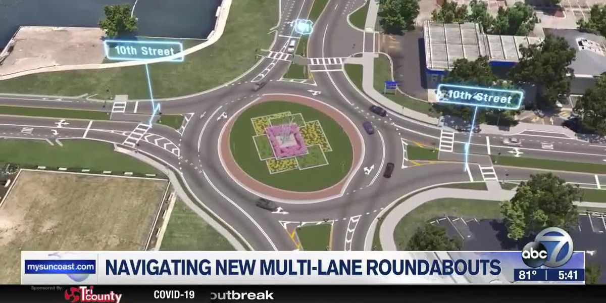 How to properly utilize U.S. 41 roundabouts from 10th Street to 14th Street in Sarasota County