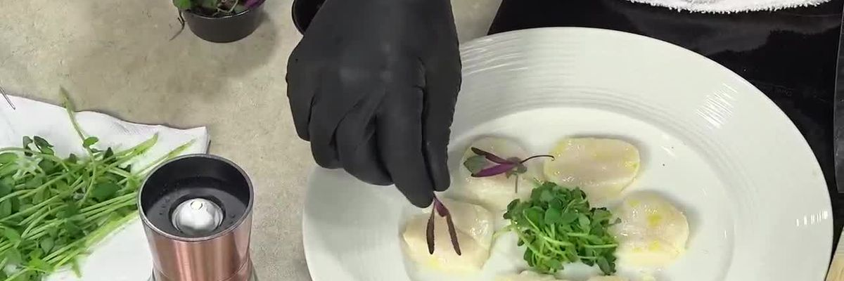 Chef Christopher Covelli from Sage Makes Marinated Scallops in the Kitchen   Suncoast View
