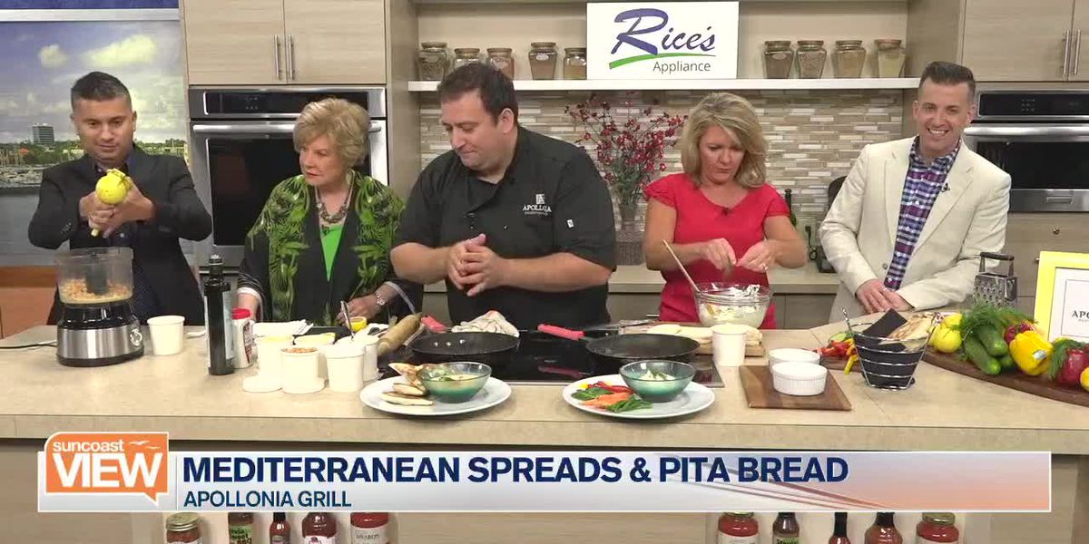 Apollonia Grill Makes Mediterranean Spreads in Our Kitchen | Suncoast View