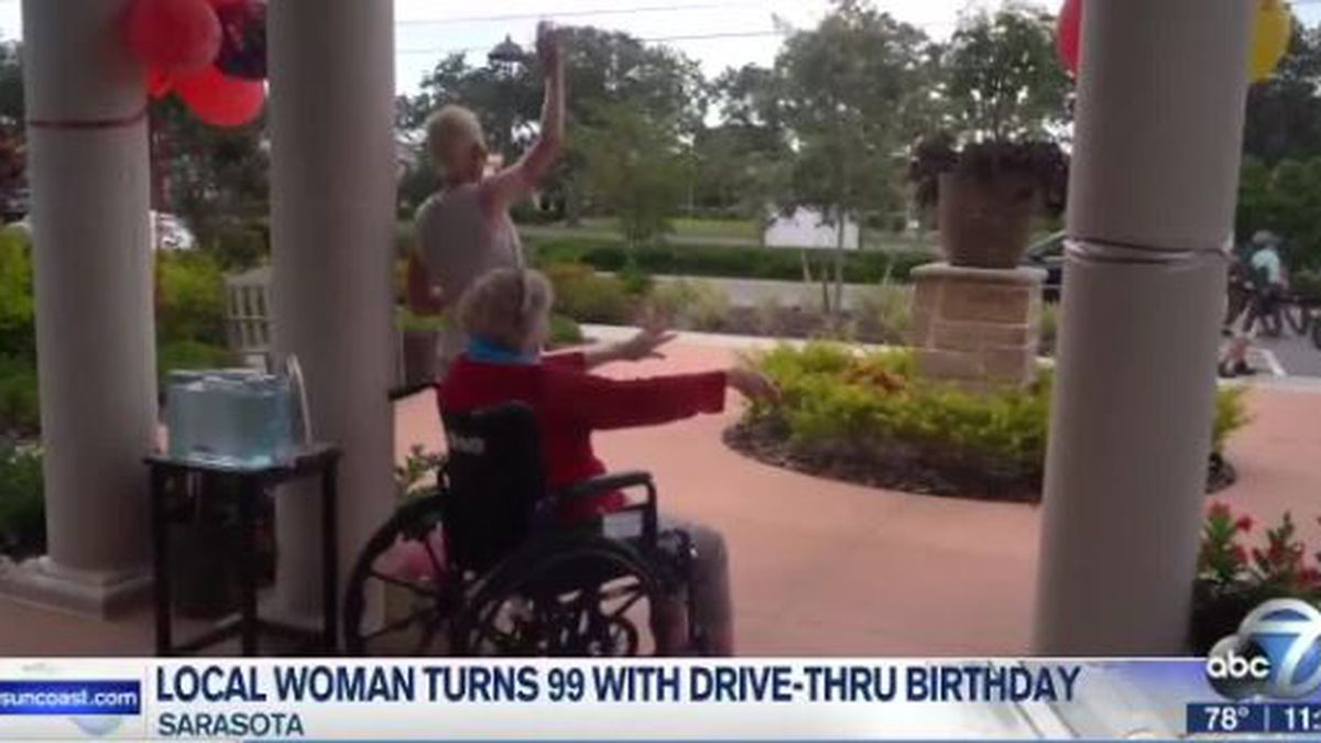 Local woman turns 99 with drive-thru birthday