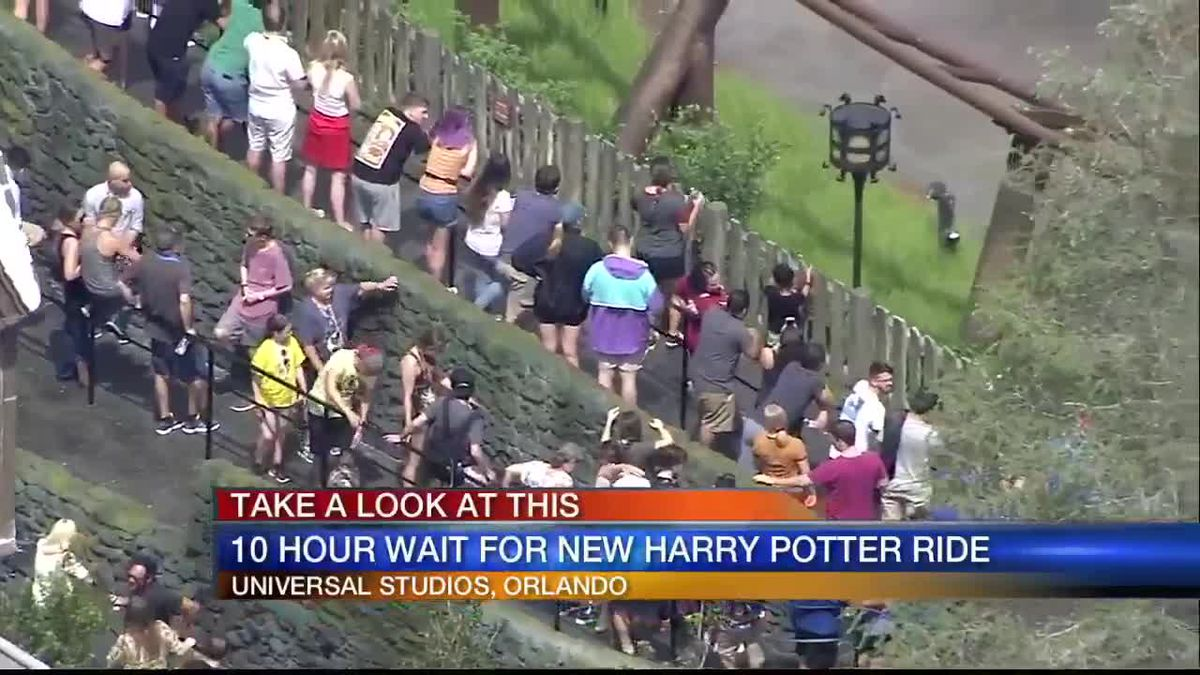 Gas Prices Orlando >> 10-hour wait for new 'Harry Potter' ride at Universal Studios in Orlando