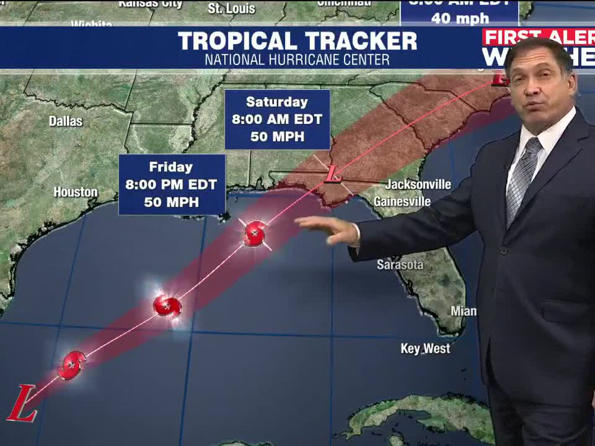 Tropical system in the Gulf will bring rain to the Suncoast