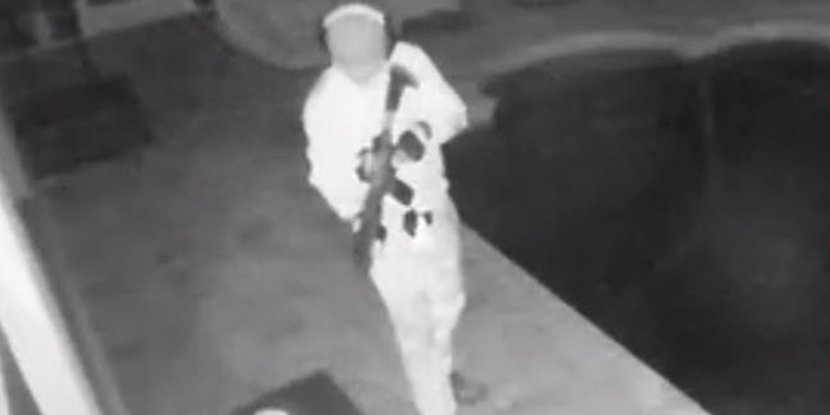 Manatee County Sheriff's Office searching for masked suspect who broke into lanai and pool area with rifle