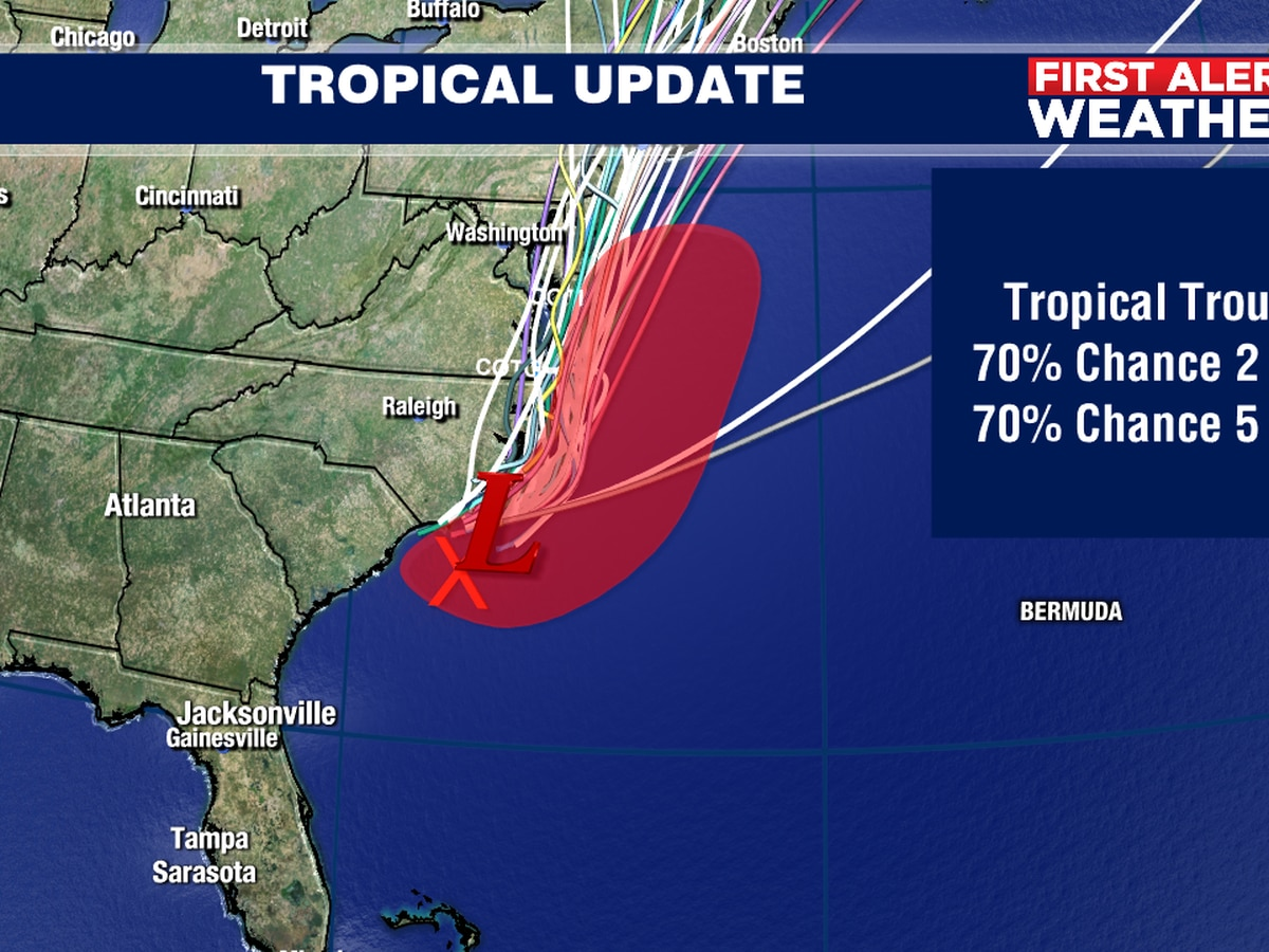 Tropical Storm Fay forms off coast of the Carolinas