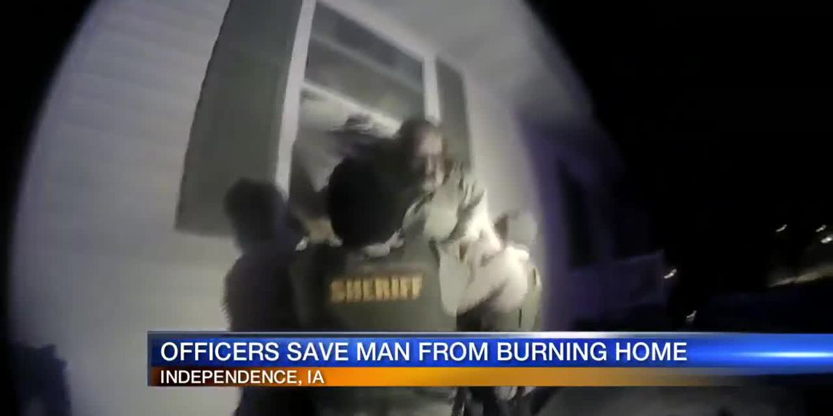 Officers Save Man From Burning House