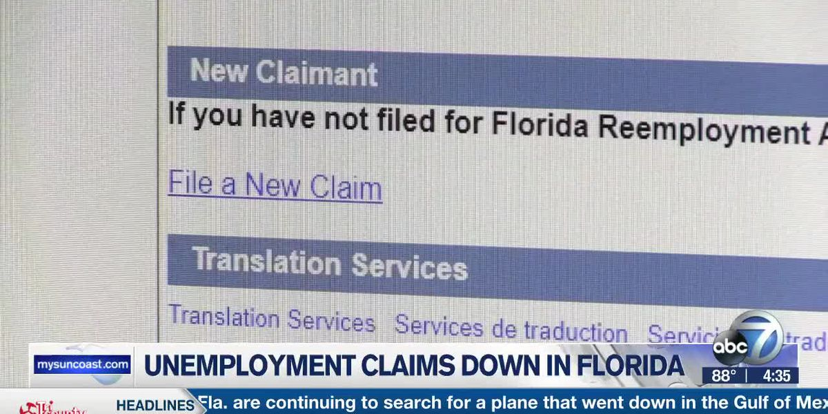 Unemployment Claims Down in Florida