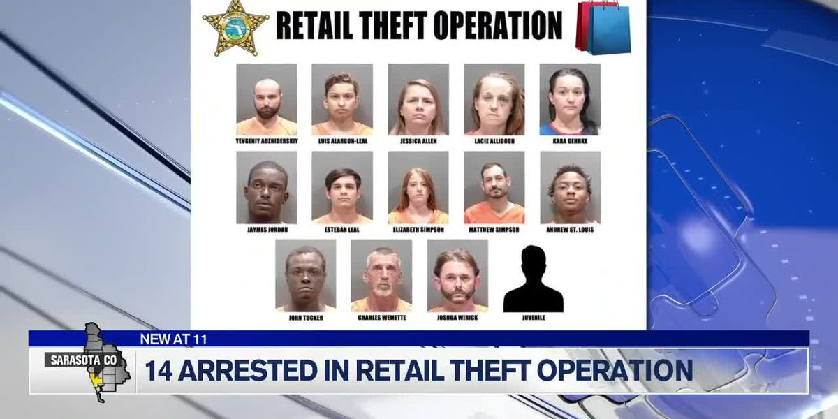 14 arrested in retail theft sting operation