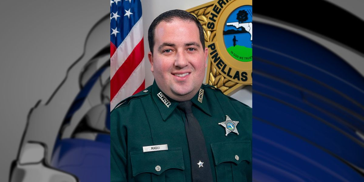 Local police officers honor Pinellas Deputy Magli