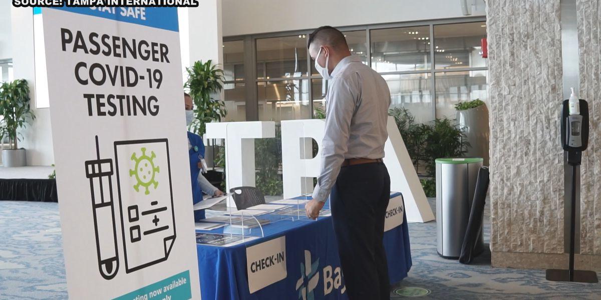 Tampa International Airport adds COVID-19 testing in main terminal