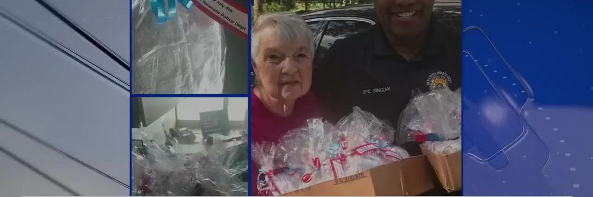 Fourth of July cookies given to Sarasota Police Officers